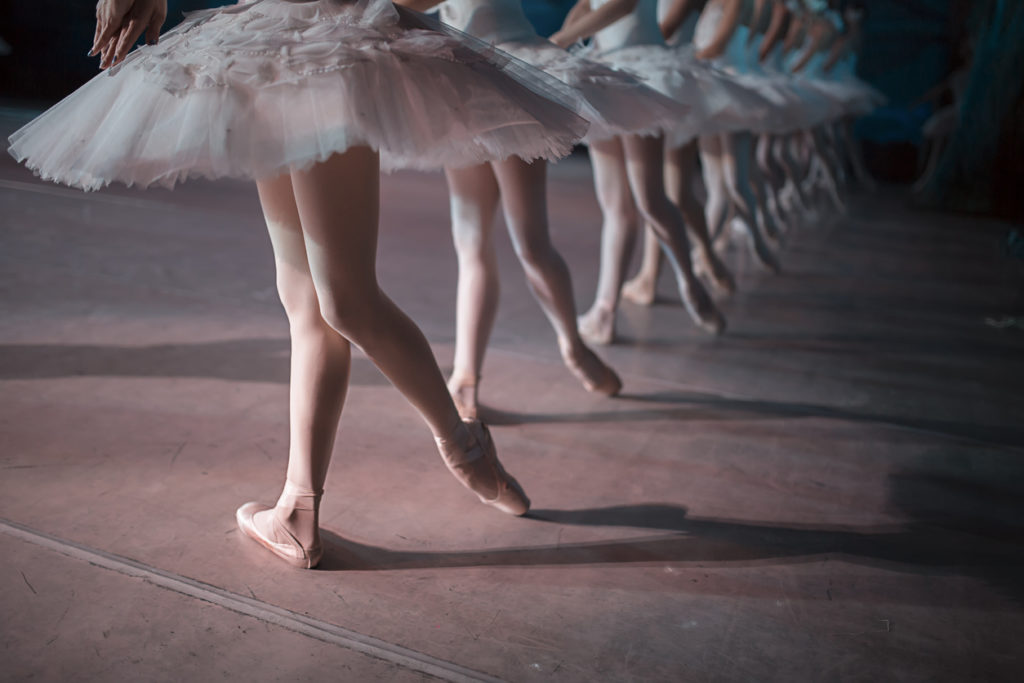 Ballet dancers during a performance